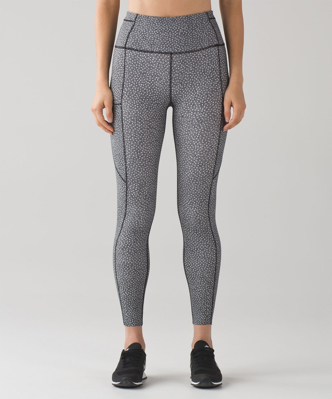 Lululemon Fast And Free 7/8 Tight - Frozen Fizz White Black
