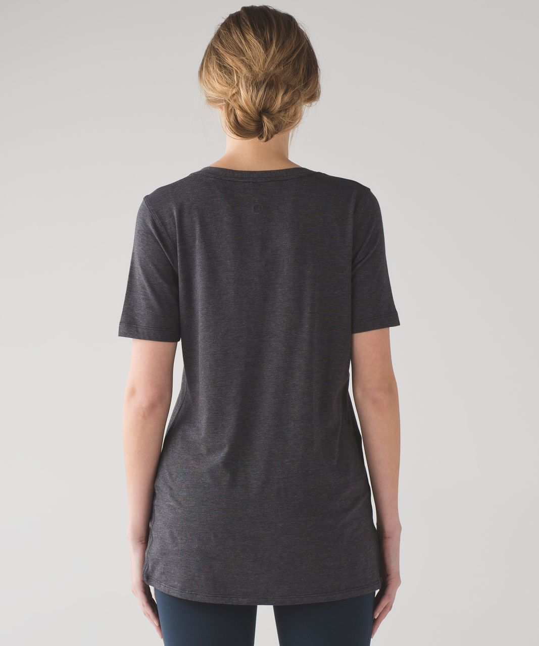 Lululemon Love Tee IV - Mini Stripe Heathered Pitch Grey Black