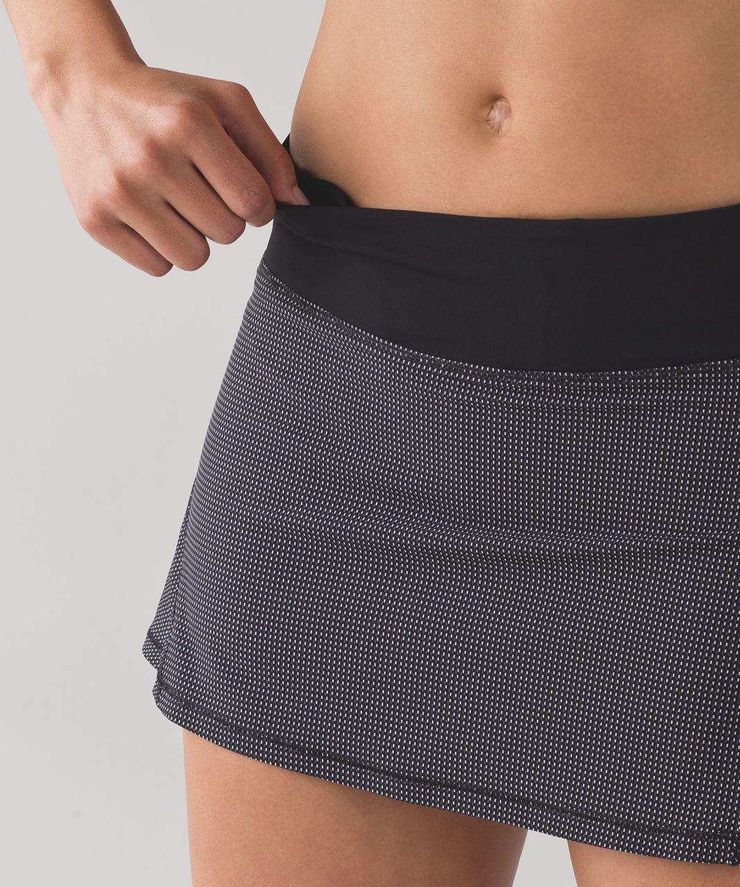 """Lululemon Circuit Breaker Skirt (Regular) (13"""") - Teeny Check Print White Black / Black"""