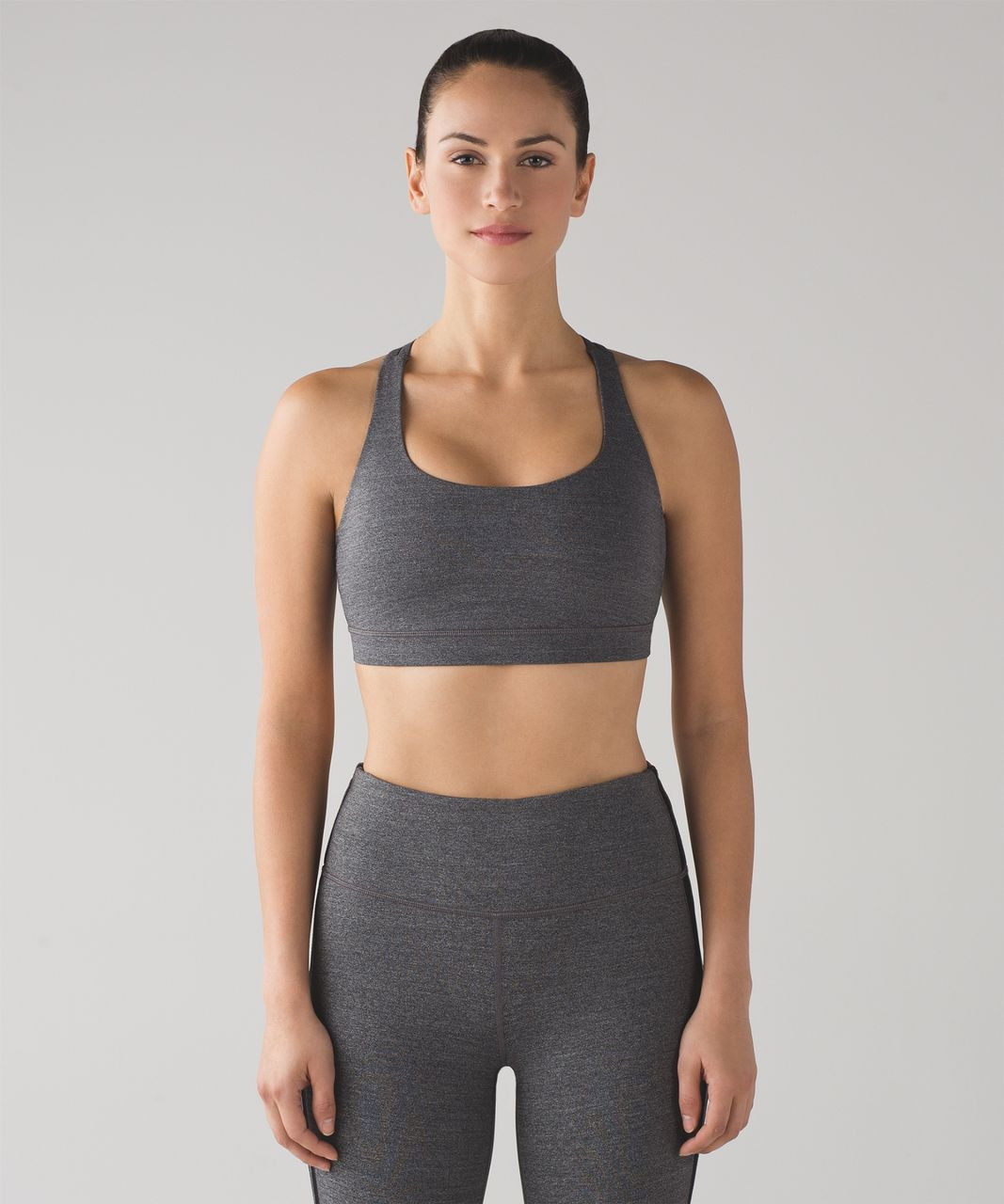 Lululemon Energy Bra - Heathered Black