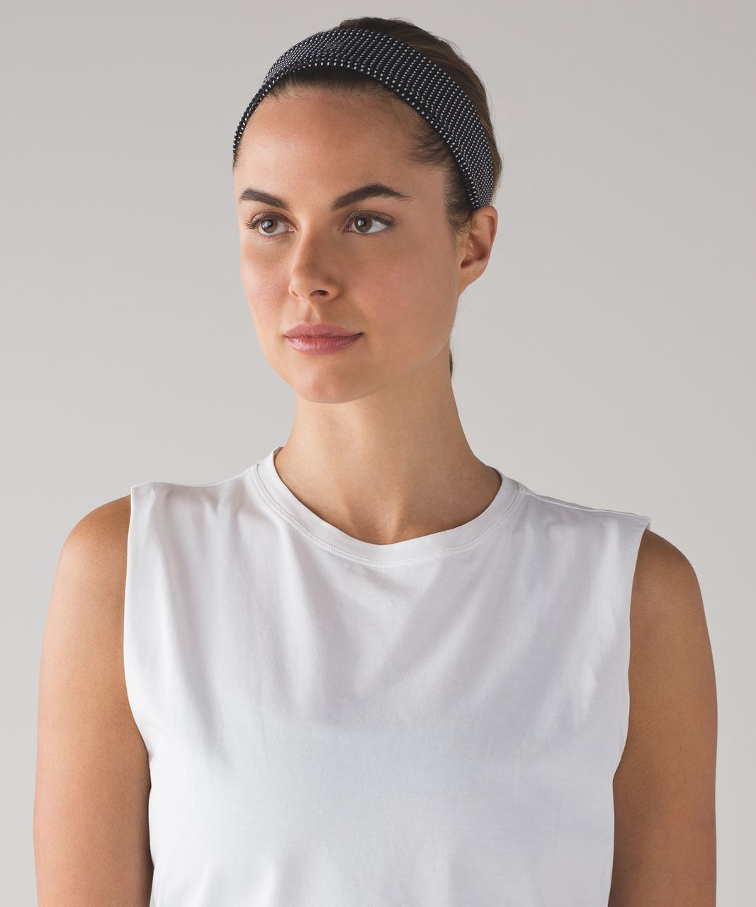 Lululemon Fly Away Tamer Headband II - Teeny Check White Black