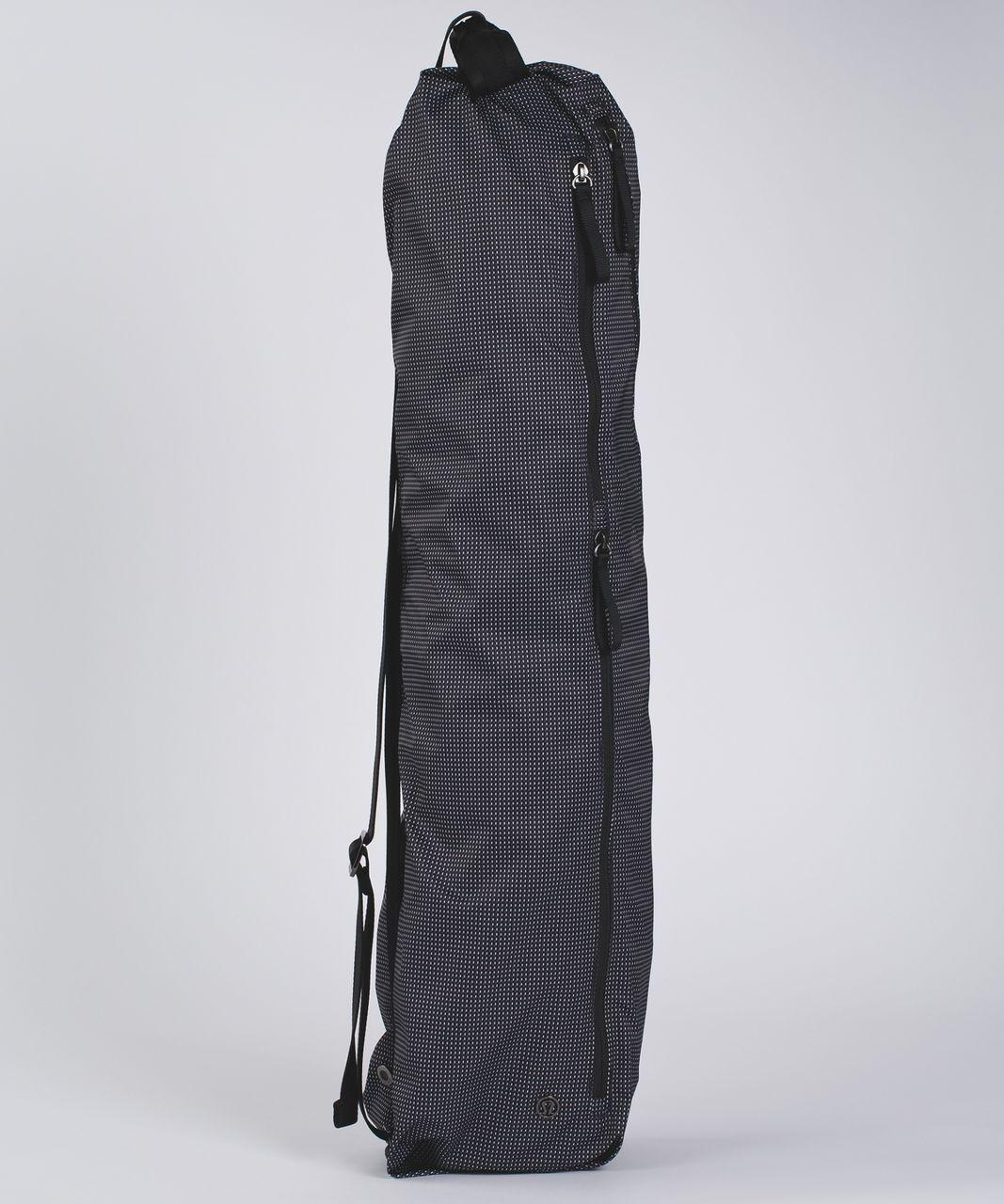 Lululemon The Yoga Bag Y Check Print White Black