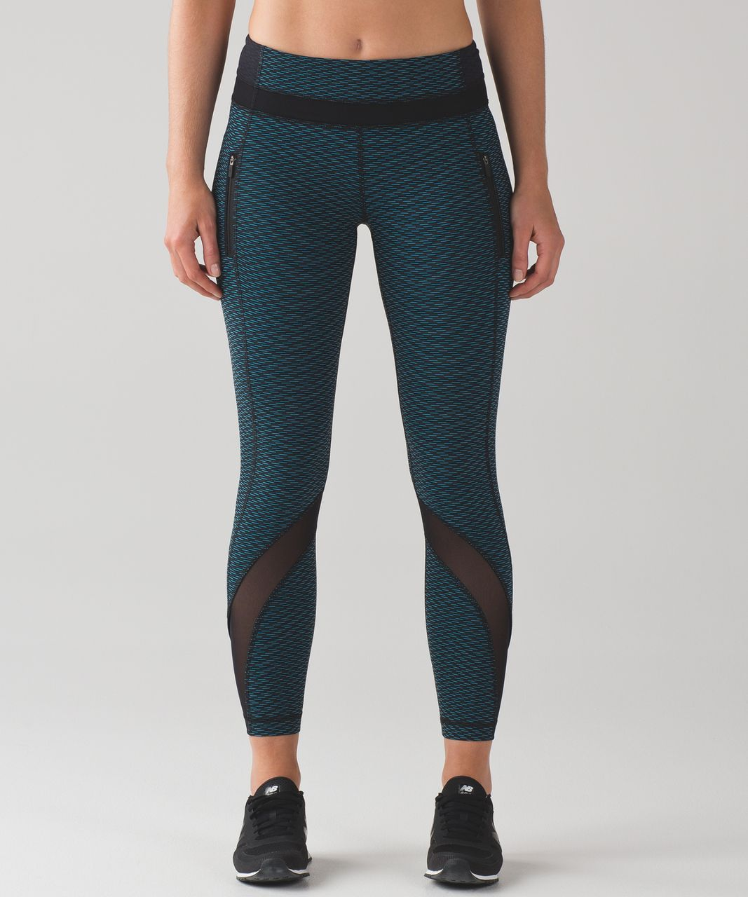 50609bbae0 Lululemon Inspire Tight II - Score Jacquard Black Indian Ocean / Black