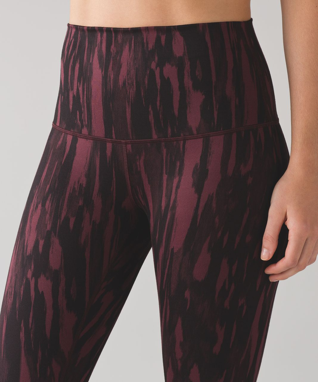 Lululemon Wunder Under Pant (Hi-Rise) (Full-On Luon) - Painted Animal Bordeaux Drama Black