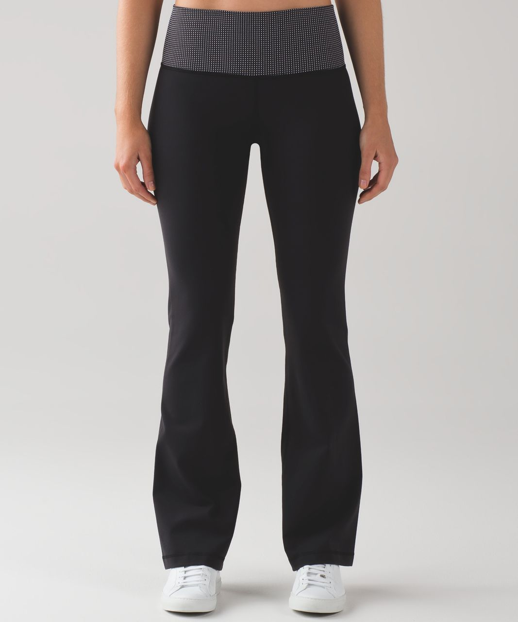 Lululemon Groove Pant III (Regular) (Full-On Luon) - Black / Teeny Check White Black