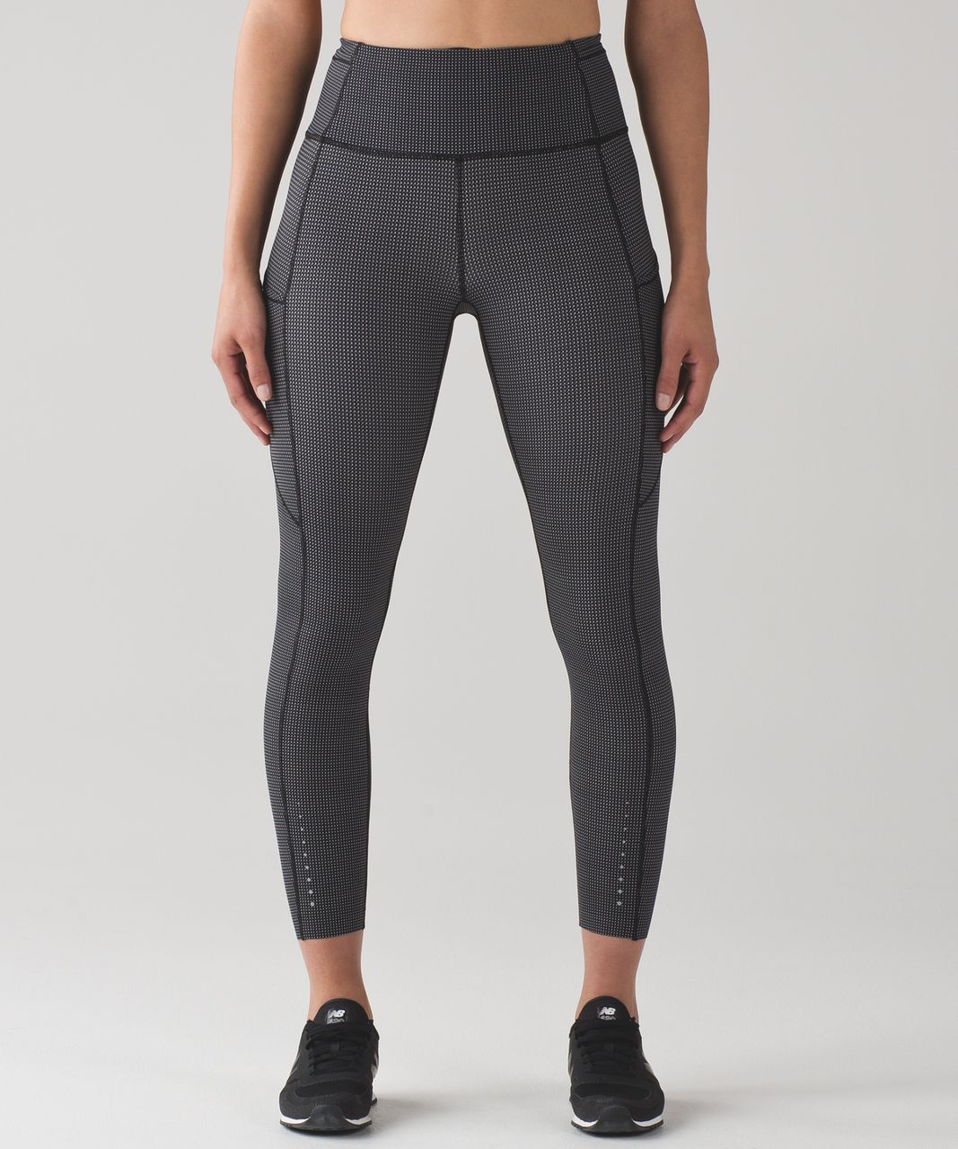 Lululemon Fast And Free 7/8 Tight - Teeny Check Print White Black