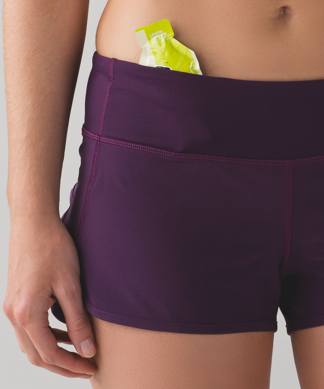"Lululemon Speed Short (4-way Stretch 2 1/2"") - Darkest Magenta"