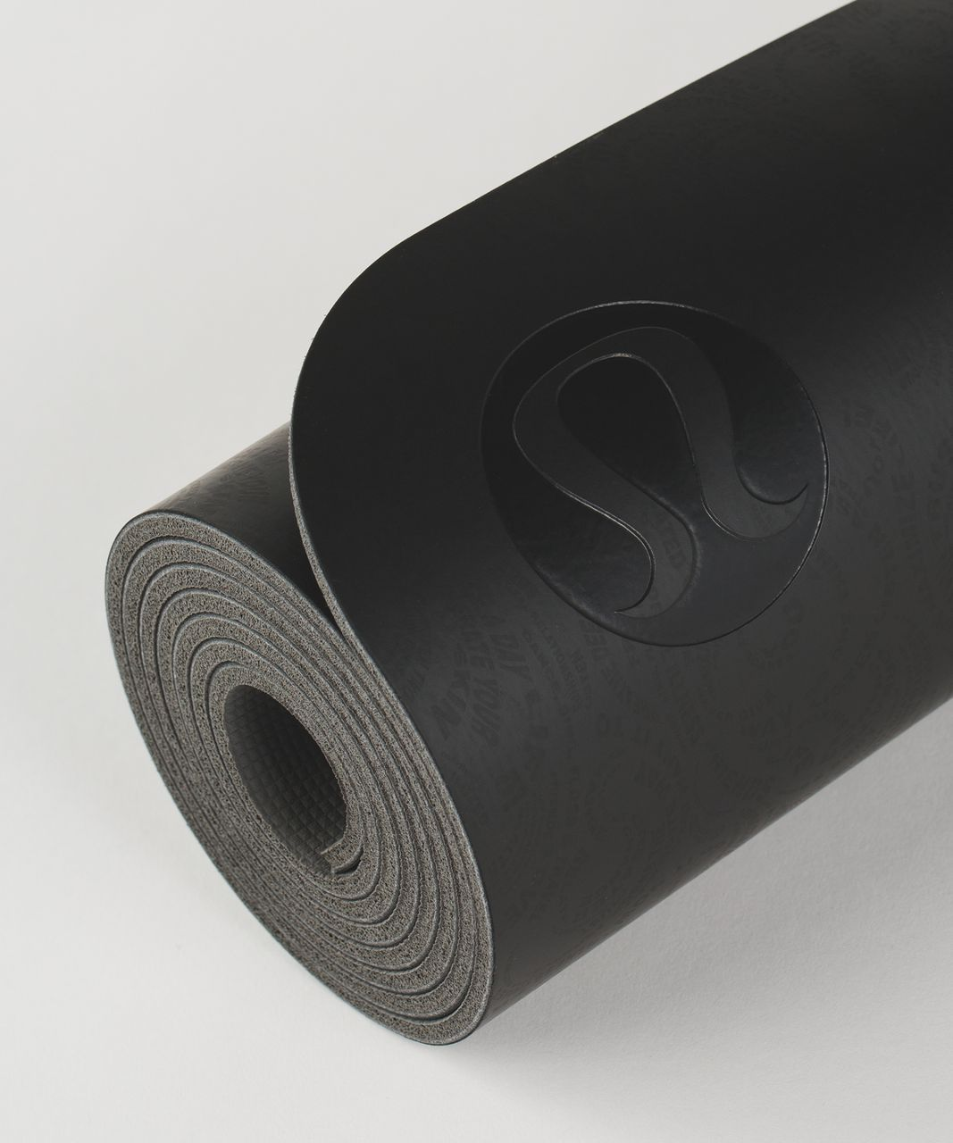 a43efb6d33 Lululemon The Reversible Mat 5mm - Maxi Foli Manifesto Black Deep Coal /  Soot Light - lulu fanatics
