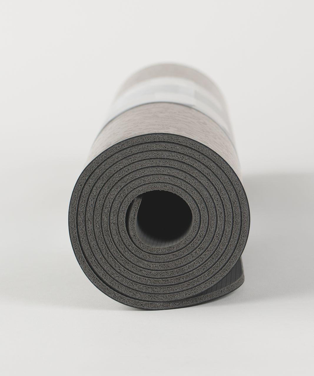 Lululemon The Reversible Mat 5mm - Maxi Foli Manifesto Black Deep Coal / Soot Light
