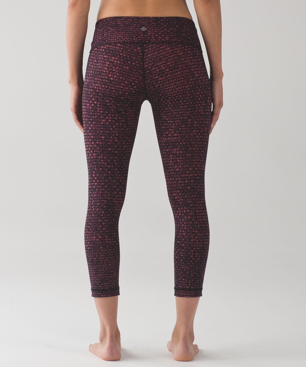"Lululemon Wunder Under Crop III (Full-On Luxtreme 21"") - Shatter Weave Dust Coral Plum"