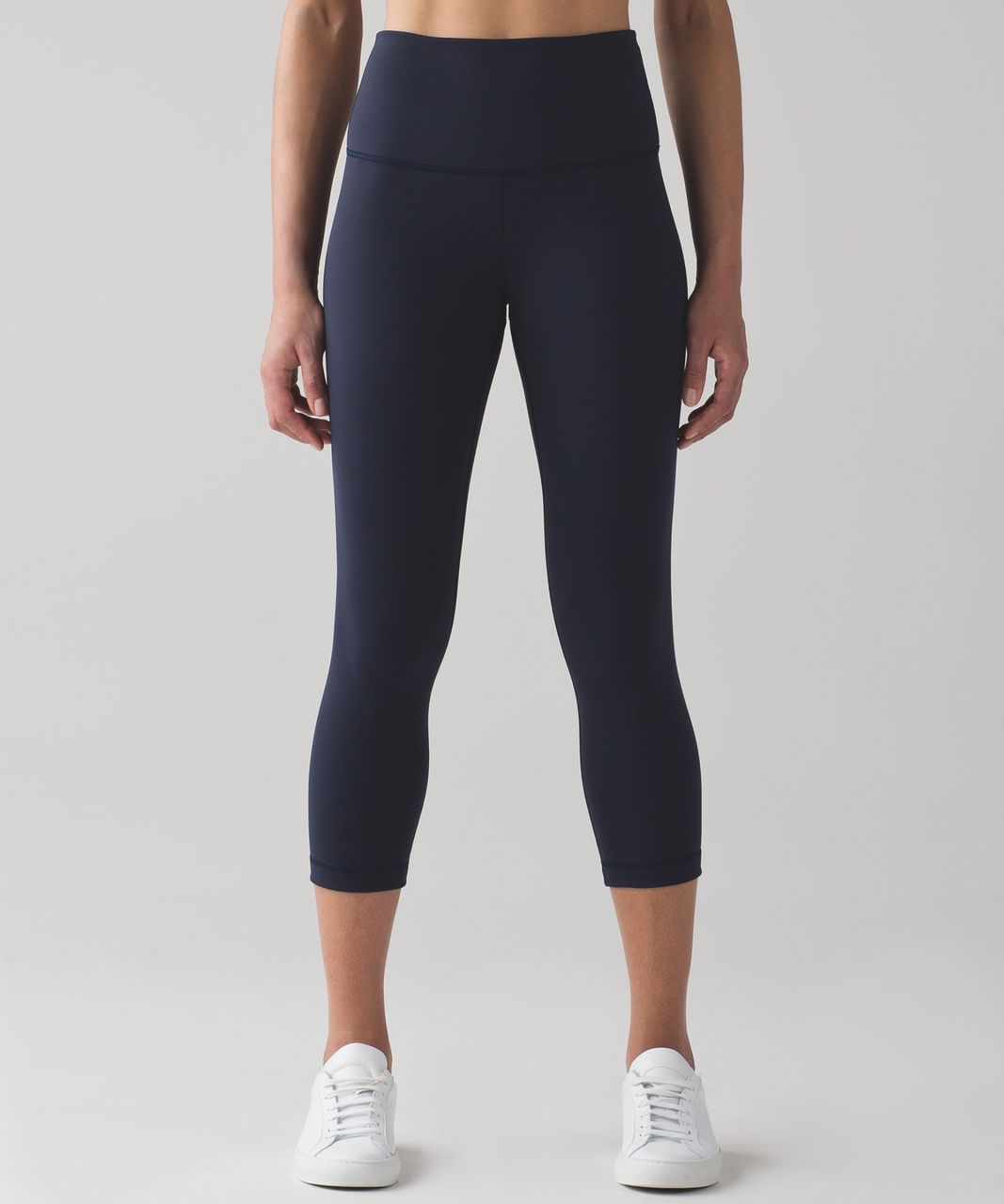 "Lululemon Wunder Under Crop (Hi-Rise) (Full-On Luon 21"") - Midnight Navy"