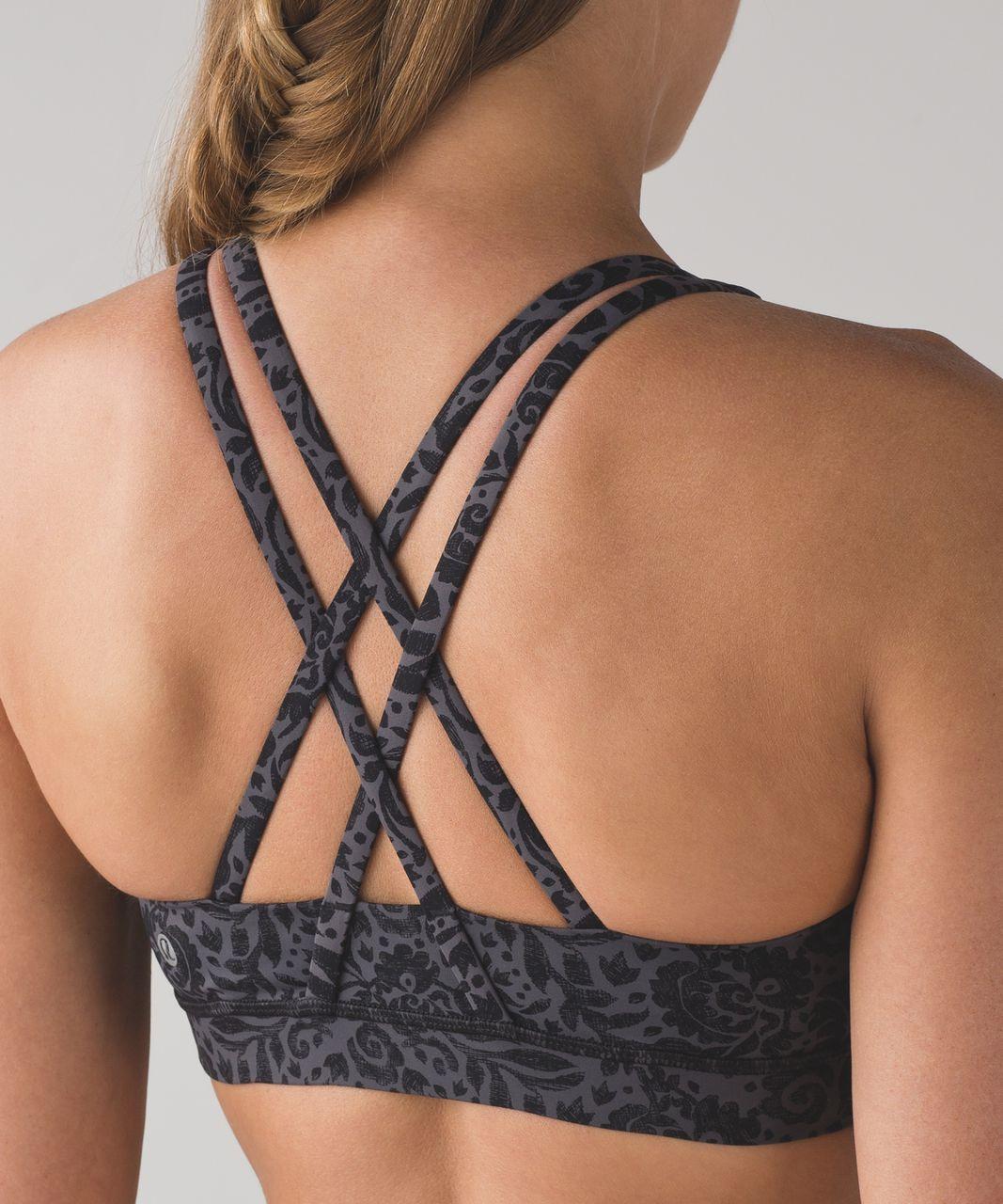 Lululemon Energy Bra (Nulux) - Ooh-la-lace Energy Bra 50g Dark Carbon Black