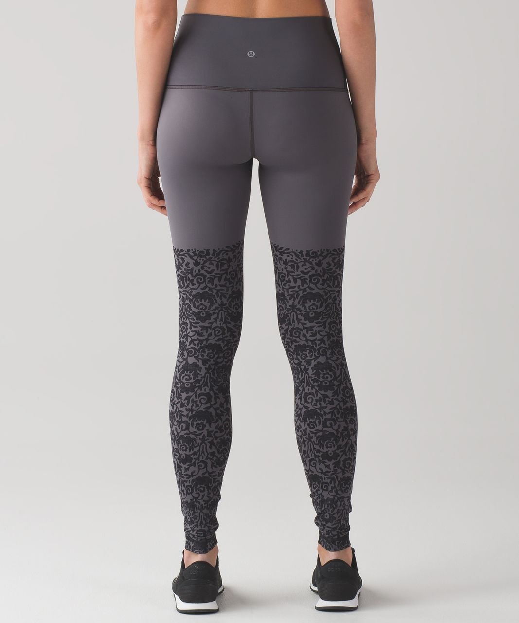Lululemon Wunder Under Pant (Hi-Rise) (Engineered Print Nulux) - Ooh-la-lace Wunder Under 50g Dark Carbon Black / Dark Carbon