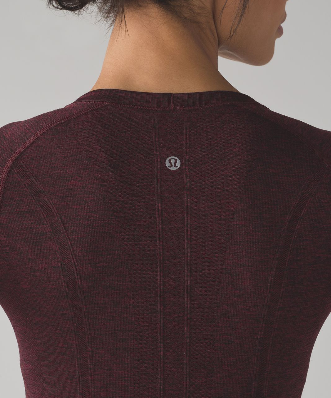 Lululemon Swiftly Tech Long Sleeve Crew - Deep Rouge / Black