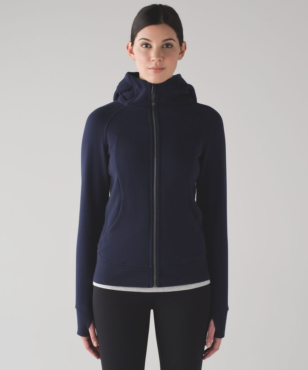 discount elegant shape durable modeling Lululemon Scuba Hoodie *Light Cotton Fleece - Midnight Navy