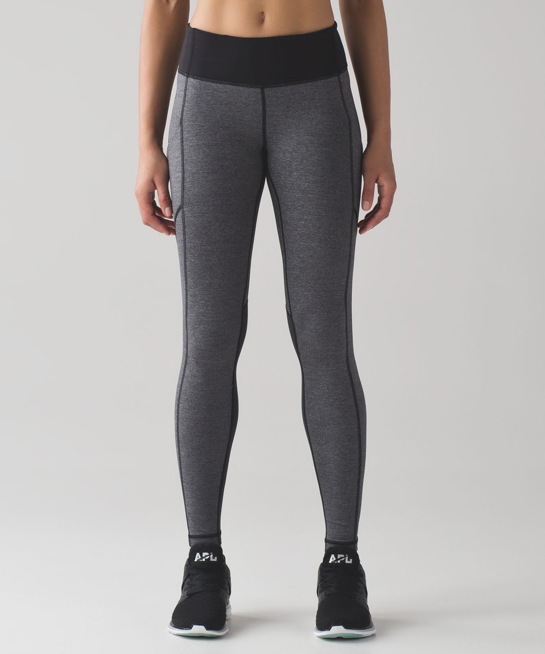 Lululemon Speed Tight V - Heathered Black / Deep Coal