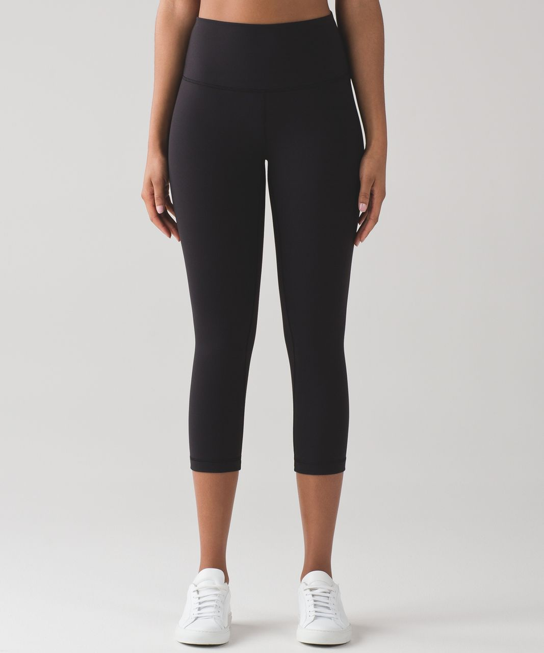 "Lululemon Wunder Under Crop (Hi-Rise) *Full-On Luon 21"" - Black (First Release)"