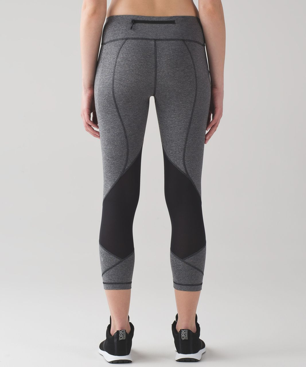 """Lululemon Pace Rival Crop *22"""" - Heathered Black / Black (First Release)"""