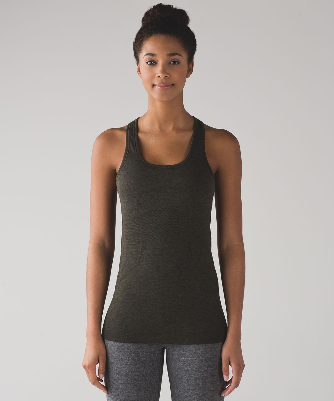 e7e07ce28dbb3 Lululemon Swiftly Tech Racerback - Dark Olive   Black - lulu fanatics