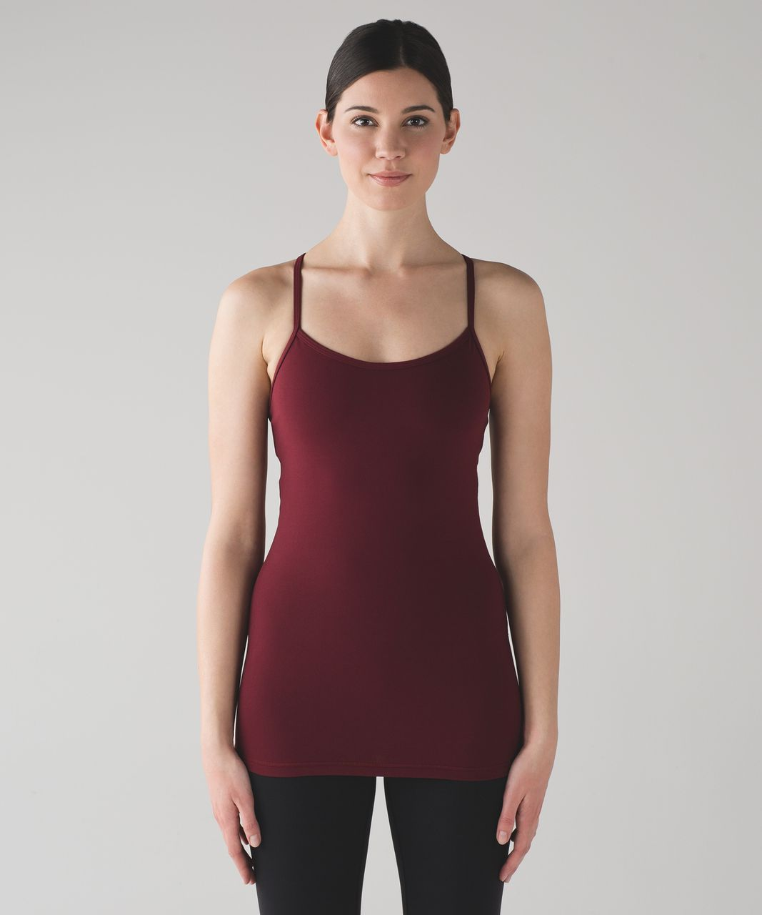 Lululemon Power Y Tank (Luon) - Deep Rouge