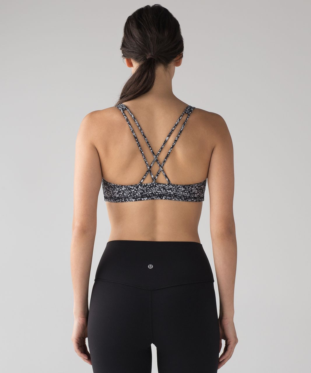 Lululemon Free To Be Bra - Daisy Dust Alpine White Black
