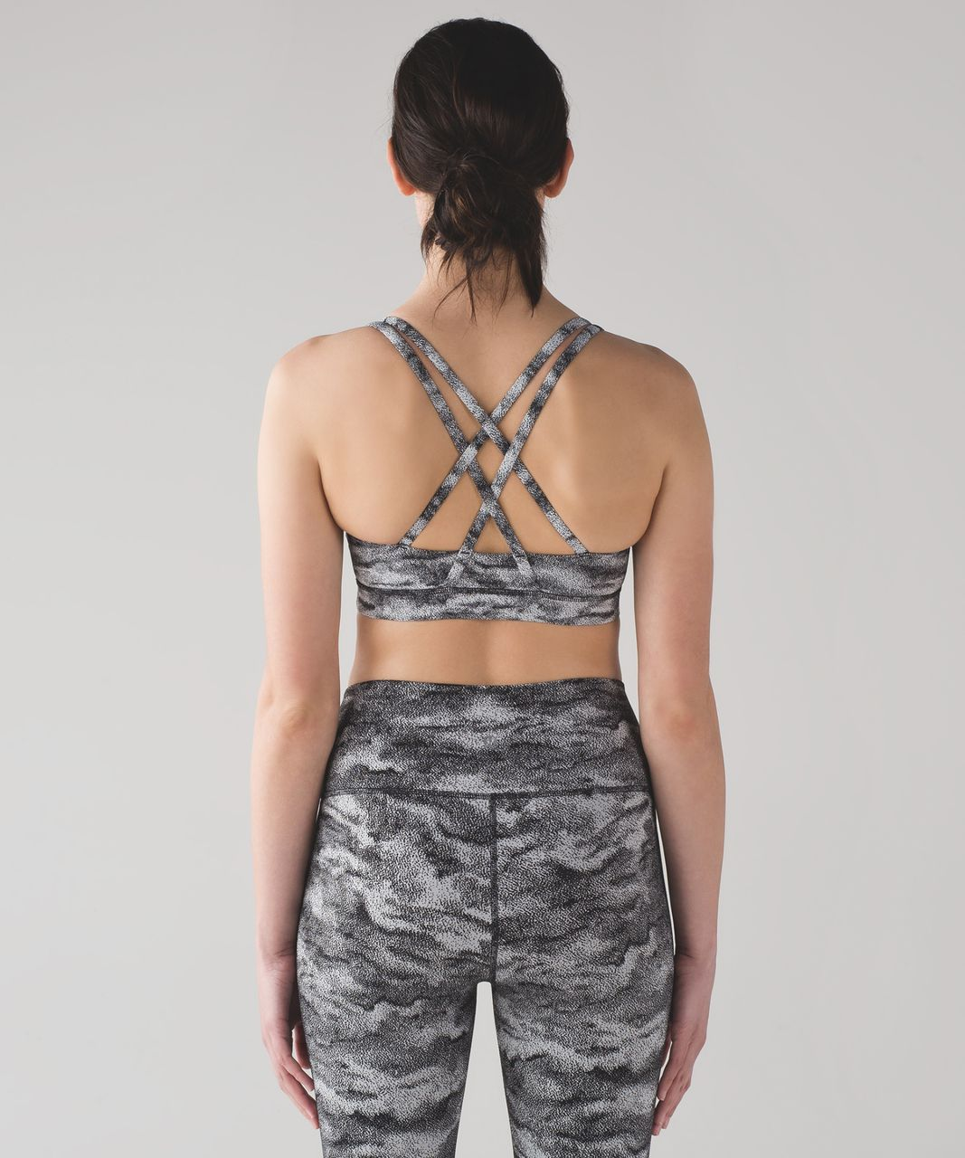 Lululemon Energy Bra - Power Luxtreme Hazy Days Black White