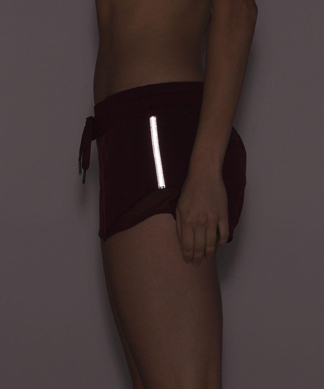 "Lululemon Hotty Hot Short (2 1/2"" ) - Deep Rouge"