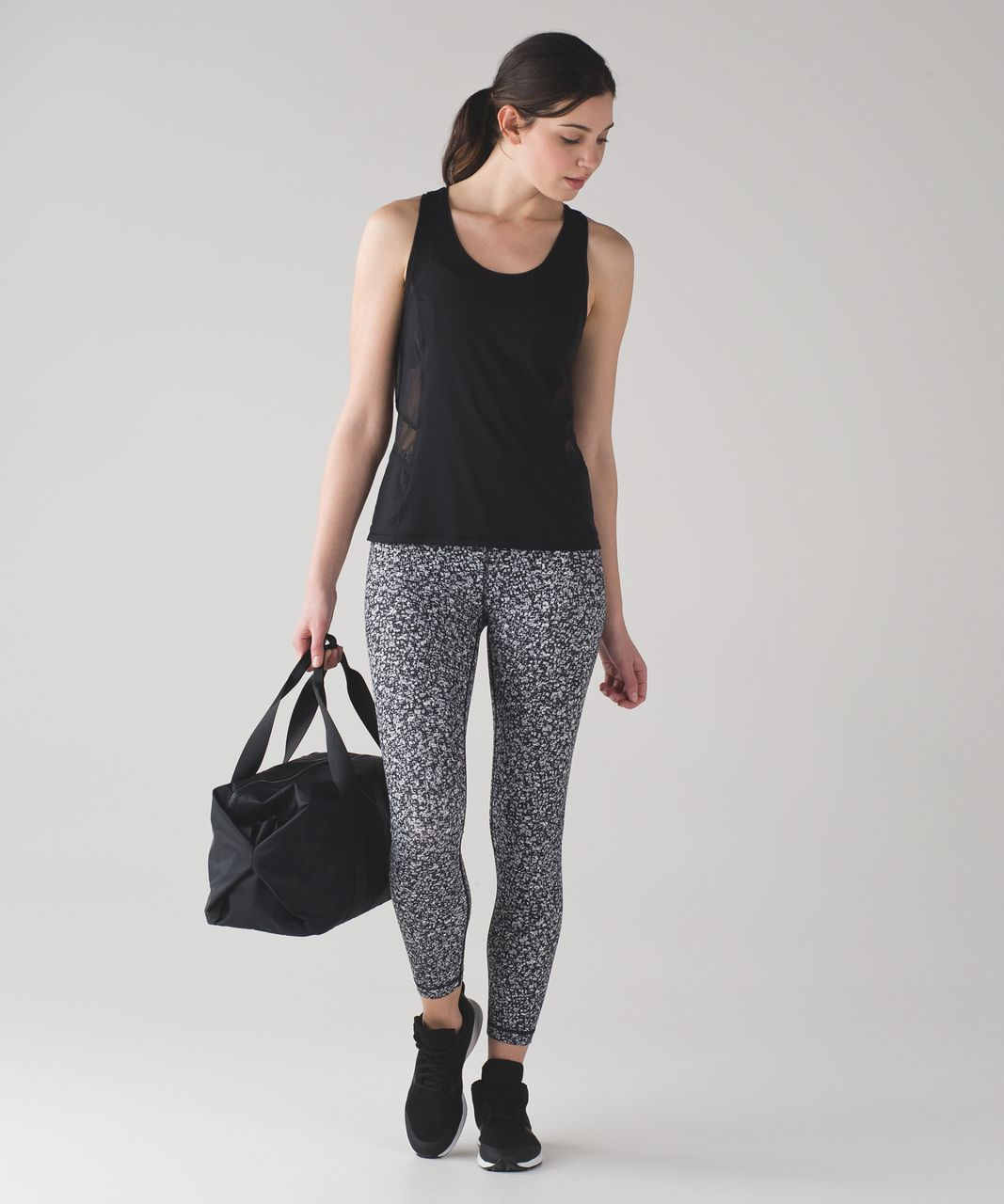 Lululemon Wunder Under Hi-Rise 7/8 Tight (Full-On Luxtreme) - Daisy Dust Alpine White Black