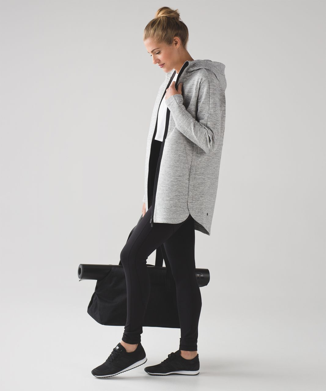 Lululemon Going Places Hooded Jacket Heathered Space