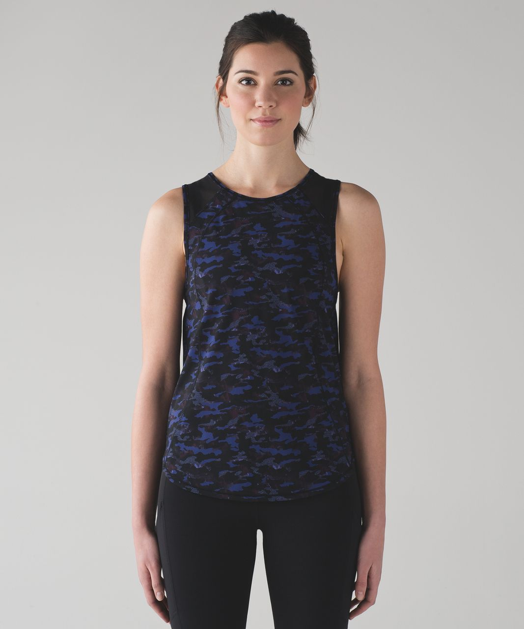 Lululemon Sculpt Tank - Mini Hounds Camo Emperor Blue Black