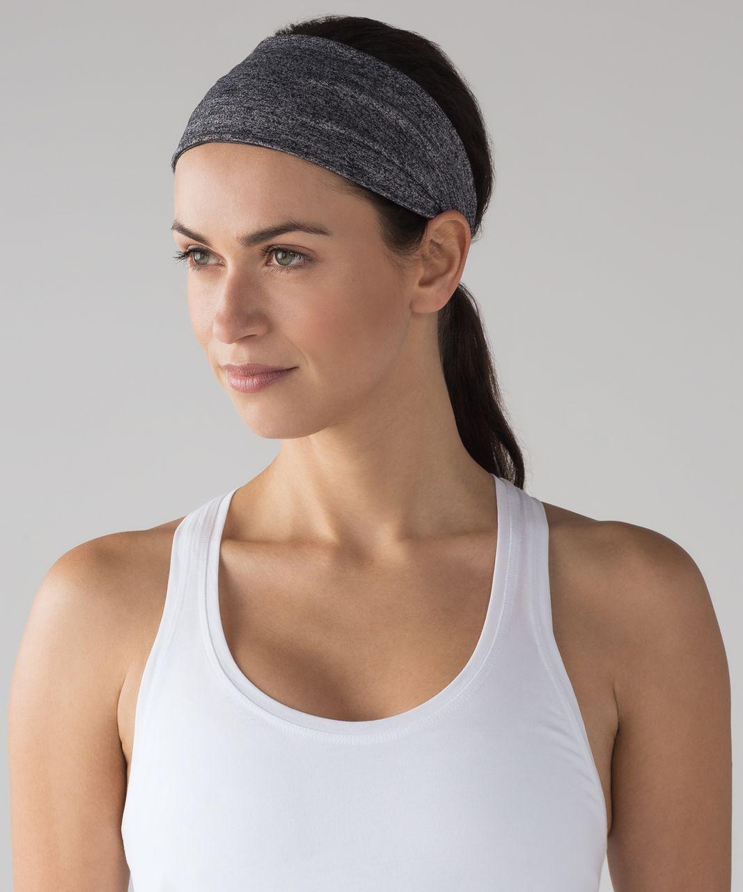 Lululemon Fringe Fighter Headband - Heathered Black / Heathered Black