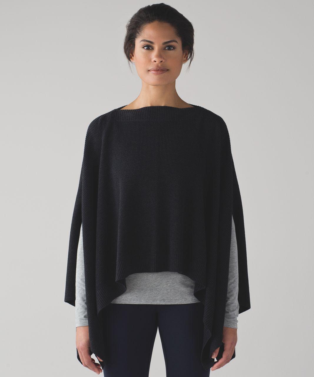 Lululemon Forward Flow Cape - Heathered Black