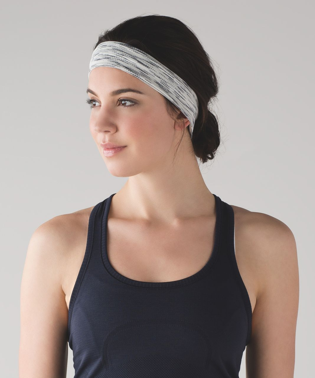 Lululemon Fringe Fighter Headband - Tiger Space Dye Black White / Tiger Space Dye Black White