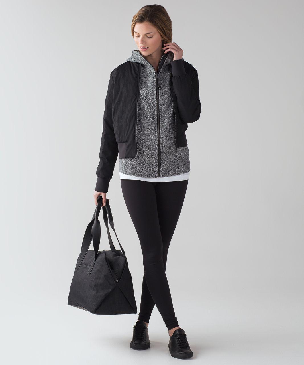 Lululemon Scuba Hoodie IV - Chakra Print Alpine White Black
