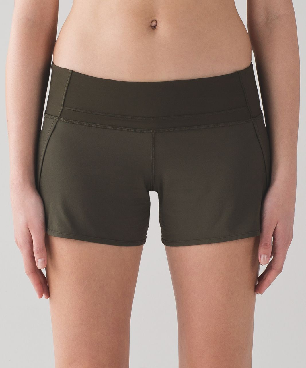 "Lululemon Run Times Short *4-way Stretch 4"" - Dark Olive"