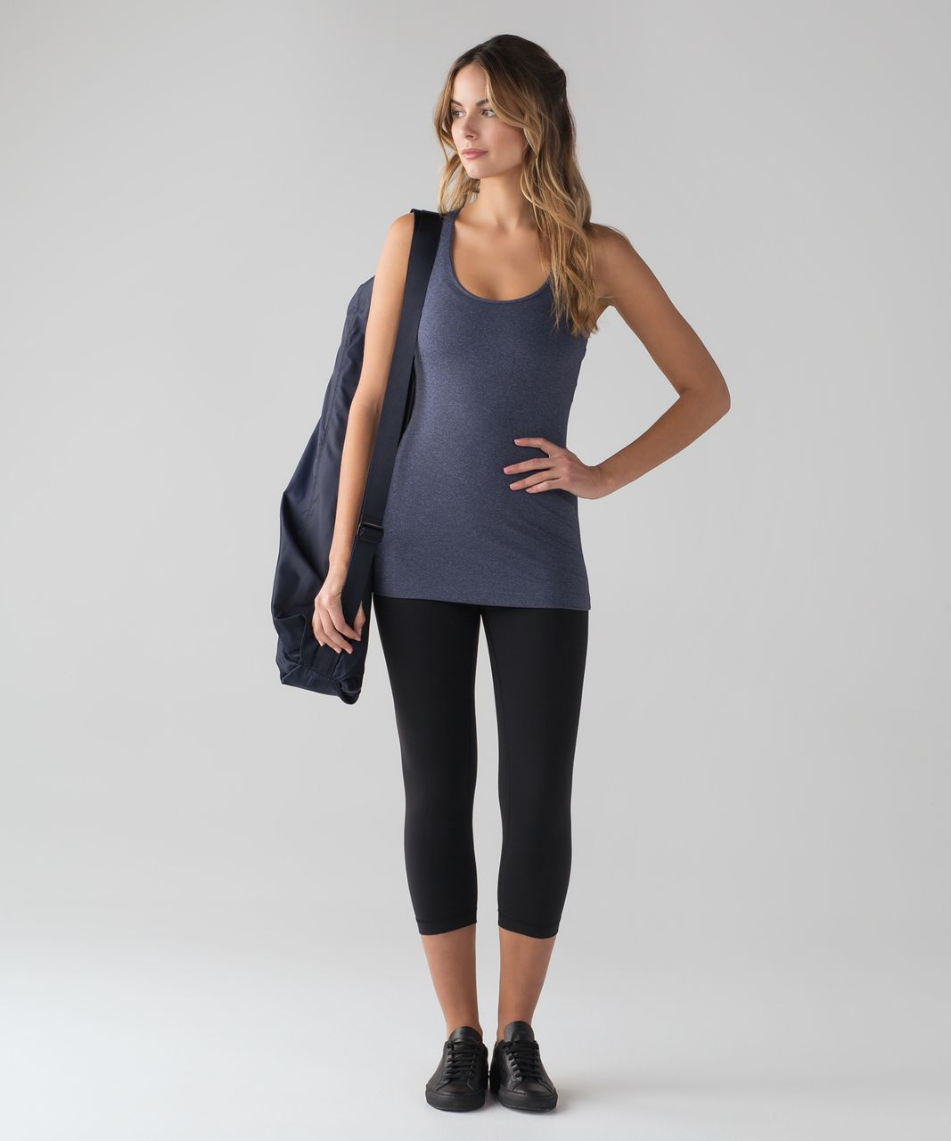 Lululemon Cool Racerback - Heathered Deep Navy