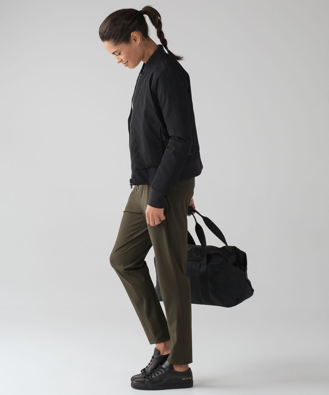 "Lululemon On The Fly Pant *28"" - Dark Olive (First Release)"