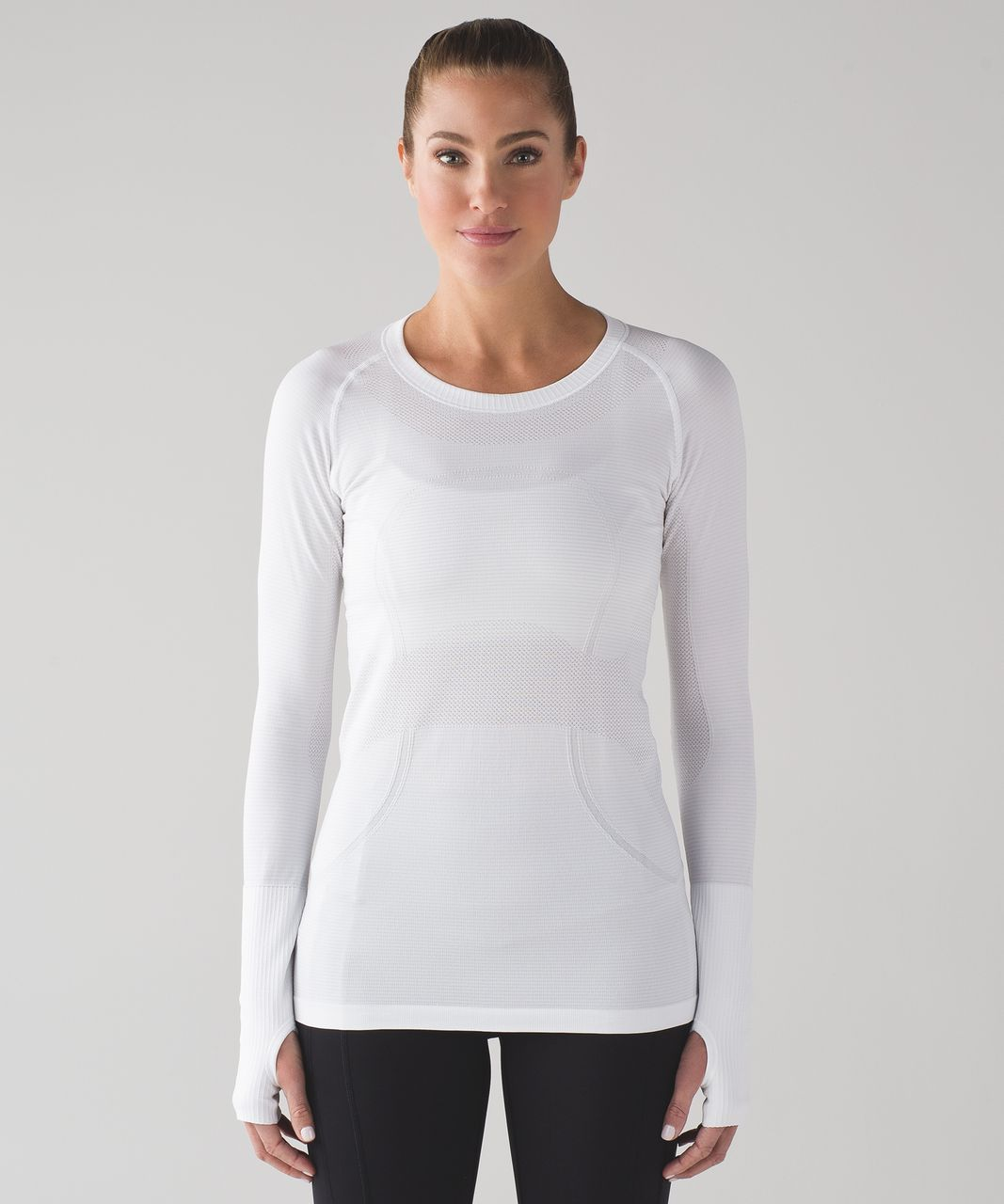 Lululemon Swiftly Tech Long Sleeve Crew - White / White