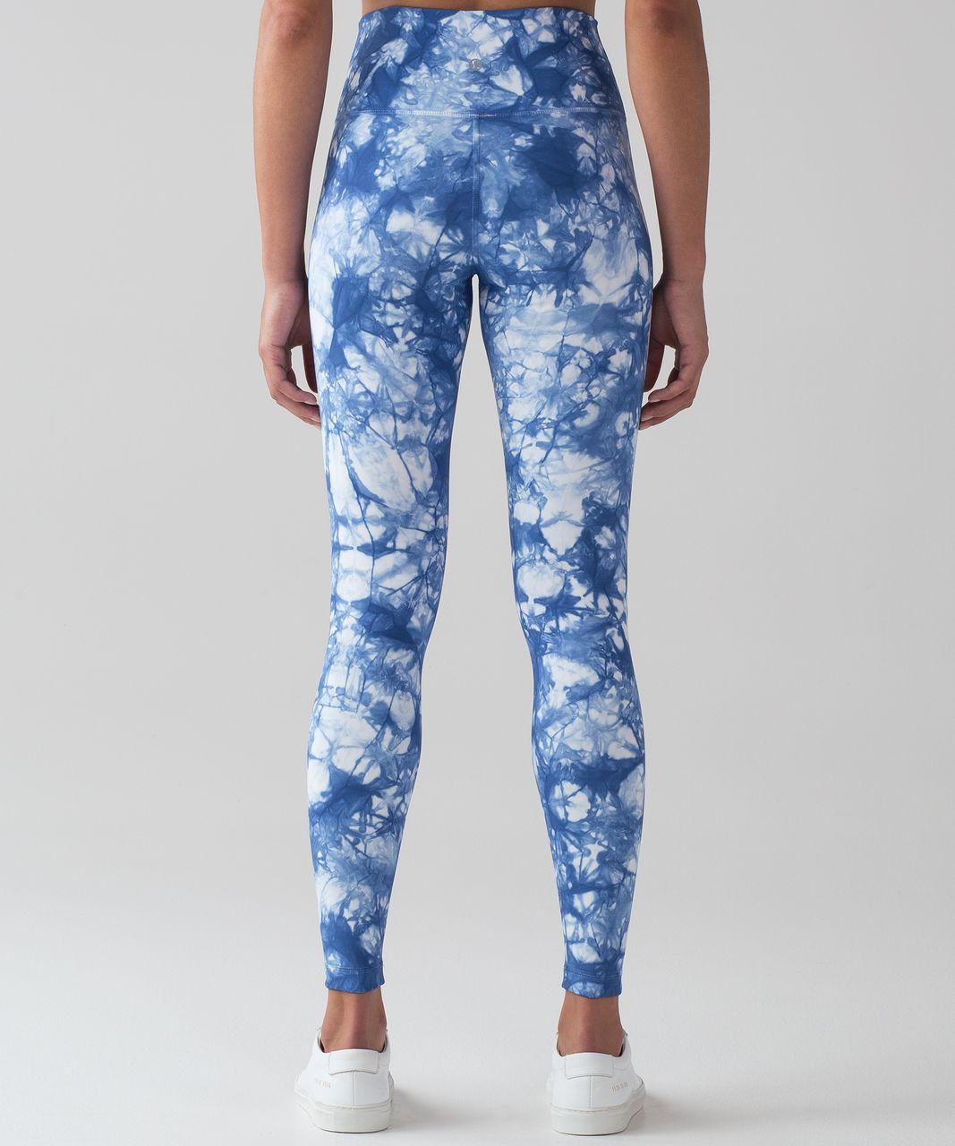 33f2d9e2ae Lululemon Wunder Under Pant (Hi-Rise) Shibori - Shibori Varsity Blue White