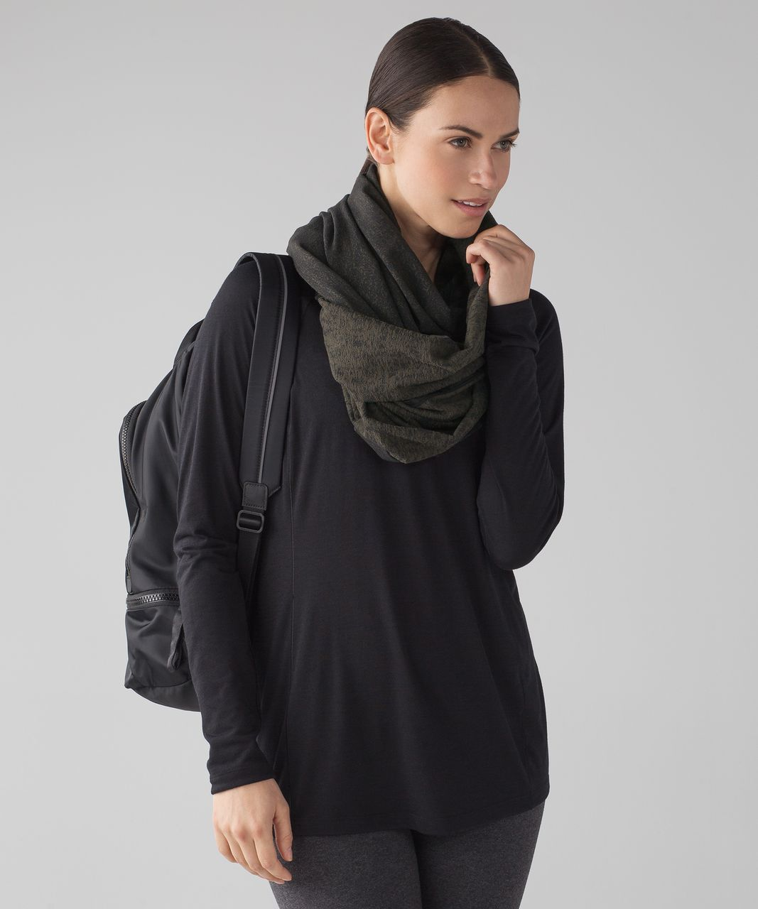 Lululemon Vinyasa Wrap - Running Luon Suited Jacquard Black Dark Olive