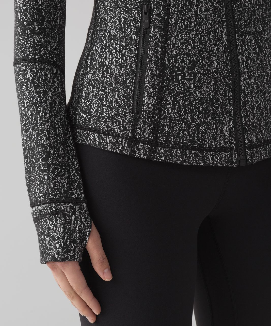 Lululemon Define Jacket - Running Luon Suited Jacquard Black White