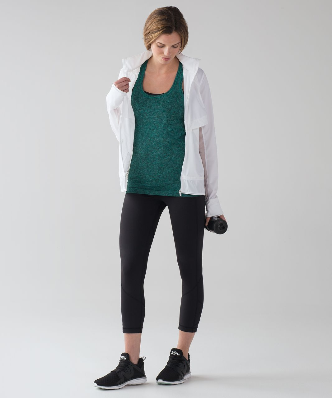 Lululemon Swiftly Tech Racerback - Viridian Green / Black