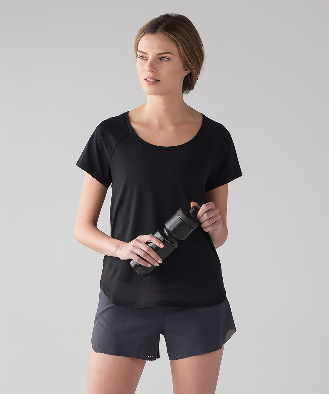 Lululemon Smooth Stride Short Sleeve (UV Protection) - Black