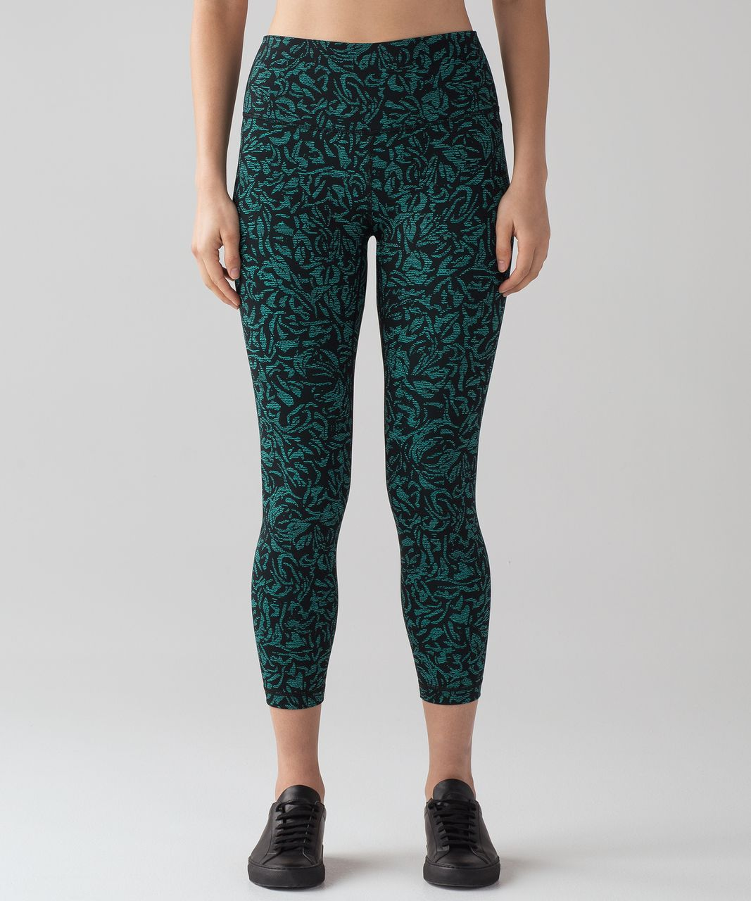 Lululemon Wunder Under Hi-Rise 7/8 Tight (Full-On Luxtreme) - Thrive Viridian Green Black