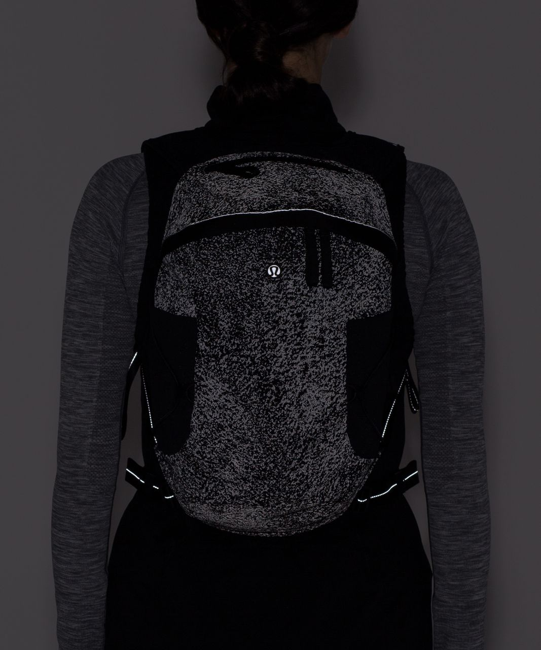 Lululemon Run All Day Backpack II (Reflective) - Glo Wild Black Reflective / Black