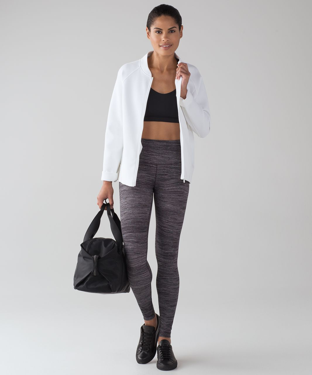 Lululemon Wunder Under Hi-Rise Tight (Full-On Luxtreme) - Bit Point Ice Grey Black