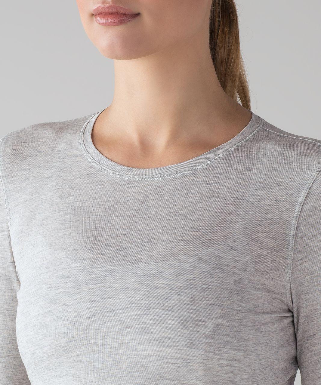 Lululemon Kitsilano Long Sleeve - Heathered Vapor