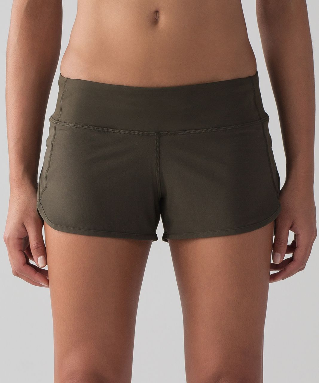 "Lululemon Speed Short (4-way Stretch 2 1/2"") - Dark Olive"