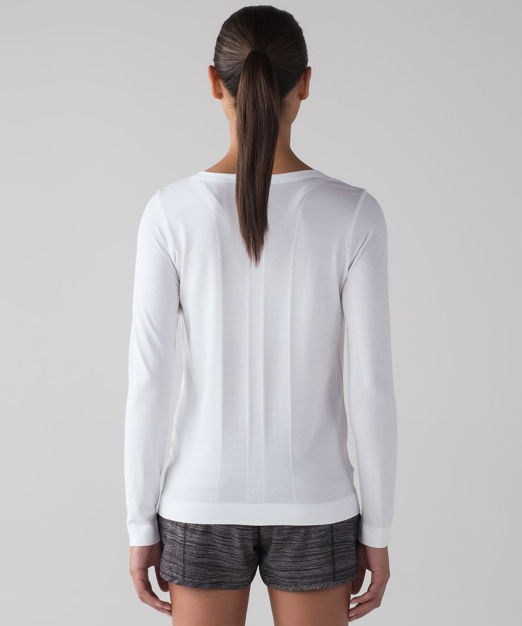 Lululemon Swiftly Tech Long Sleeve (Breeze) *Relaxed Fit - White / White (First Release)