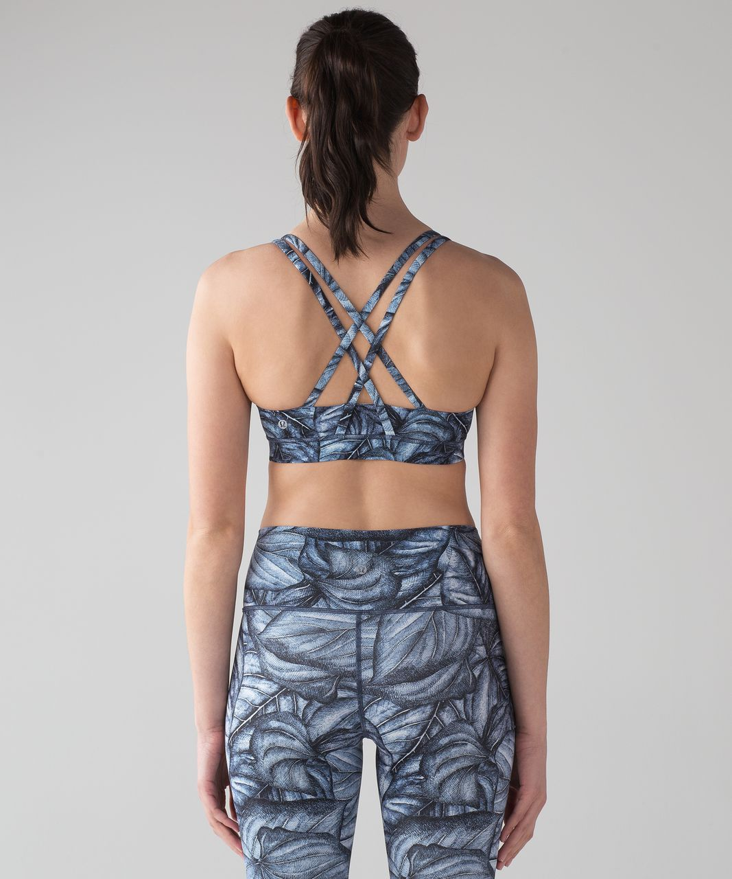 Lululemon Energy Bra (Nulux) - Mini Concrete Jungle Alpine White Multi